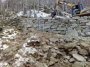 Resturering av mur Vindhella
