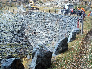 Resturering mur Vindhella