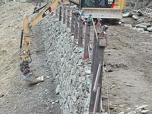 2016: Resturering mur Vindhella i lag med Sherparar frå Stibyggjaren AS