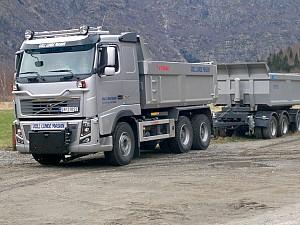 Volvo FH750 med trolift